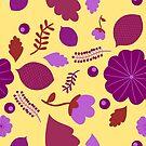 Spring Flower Pattern (purple) by Stephanie Hardy