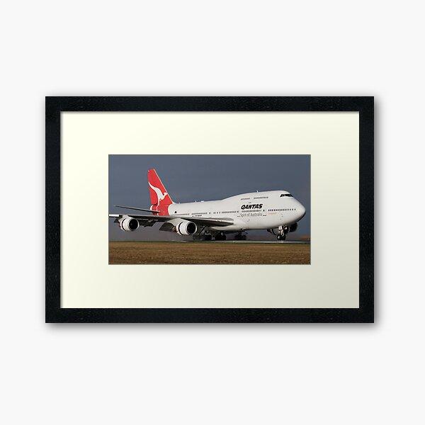 Qantas Landing Framed Art Print