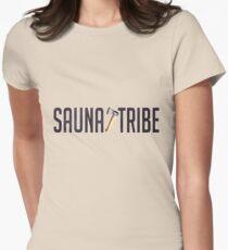 Sauna Tribe - Axe Wordmark Women's Fitted T-Shirt