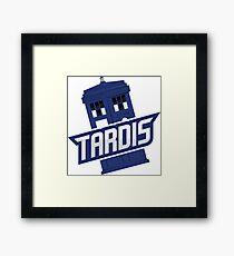 Tardis Sports Sticker Framed Print