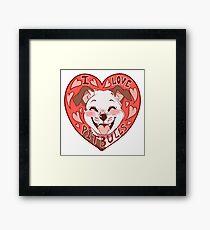 i love pitbulls Framed Print