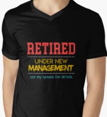 Funny Retirement Apparel Men's V-Neck T-Shirt