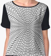 Spiral Pattern Chiffon Top