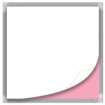 Black Page Peel With Pink Square One by BionicWiggly