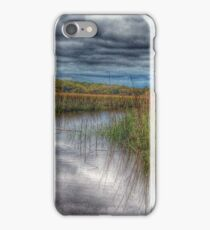 Clouds over Salt Marsh iPhone Case/Skin