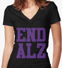 End ALZ Women's Fitted V-Neck T-Shirt