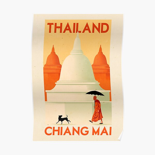 Travel Poster - Chiang Mai Thailand Poster