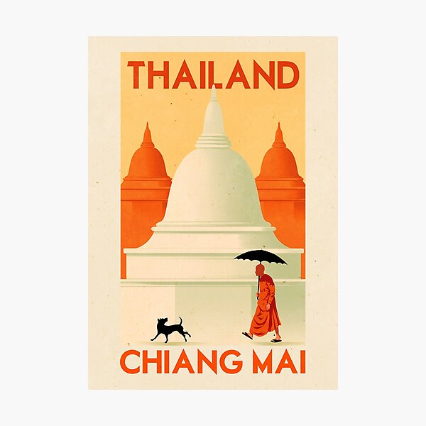 Travel Poster - Chiang Mai Thailand Photographic Print