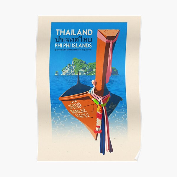 Travel Poster - Phi Phi Island Thailand Poster