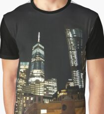New York City, New York, Brooklyn, Manhattan, building, house, skyscraper, Street View, street, cars Graphic T-Shirt