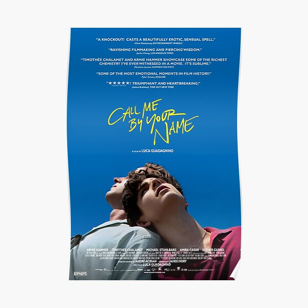 Call Me By Your Name Film Poster Poster