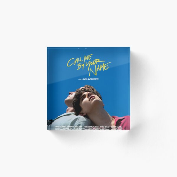 Call Me By Your Name Film Poster Acrylic Block