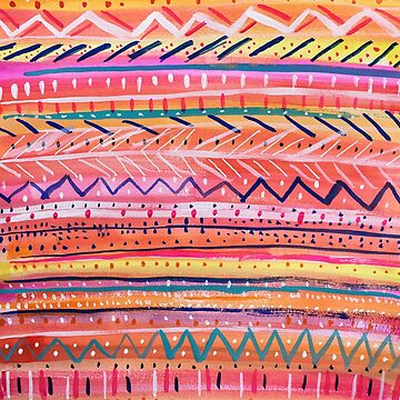 Hand painted Bright Patterned Stripes by melaniebiehle