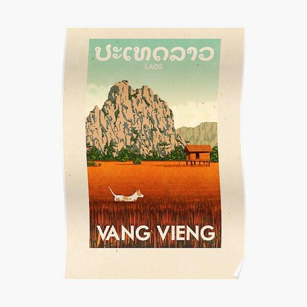 Travel Posters - Vang Vieng Laos Poster