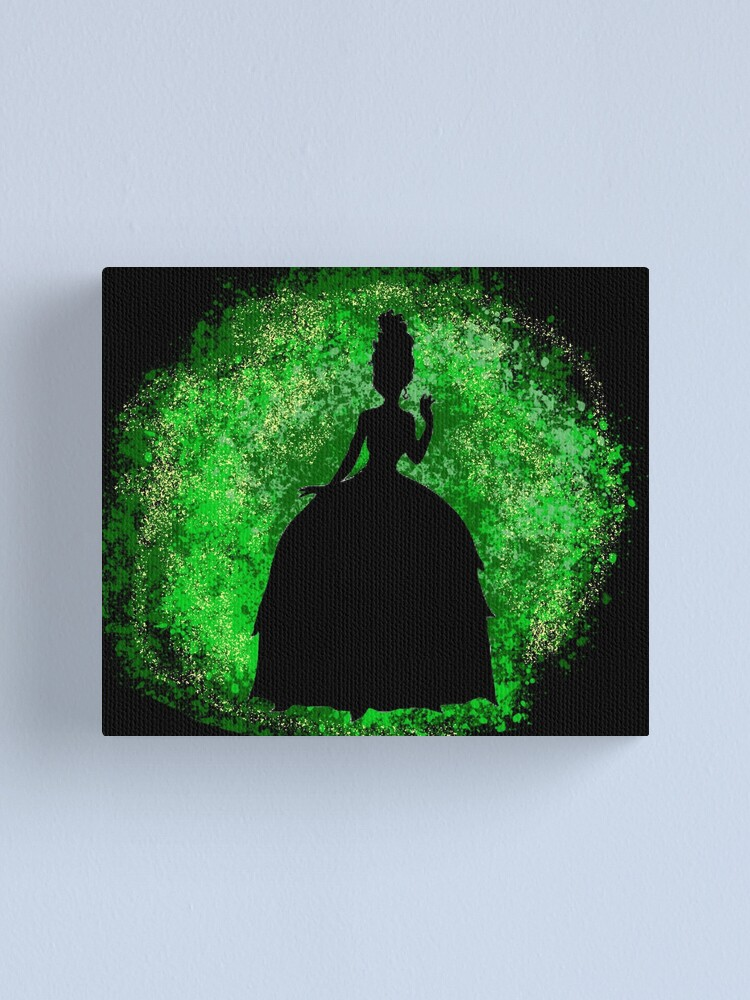 The Princess And The Frog Silhouette Canvas Print By Catgirl101