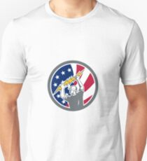 American Electrician USA Flag Icon Unisex T-Shirt