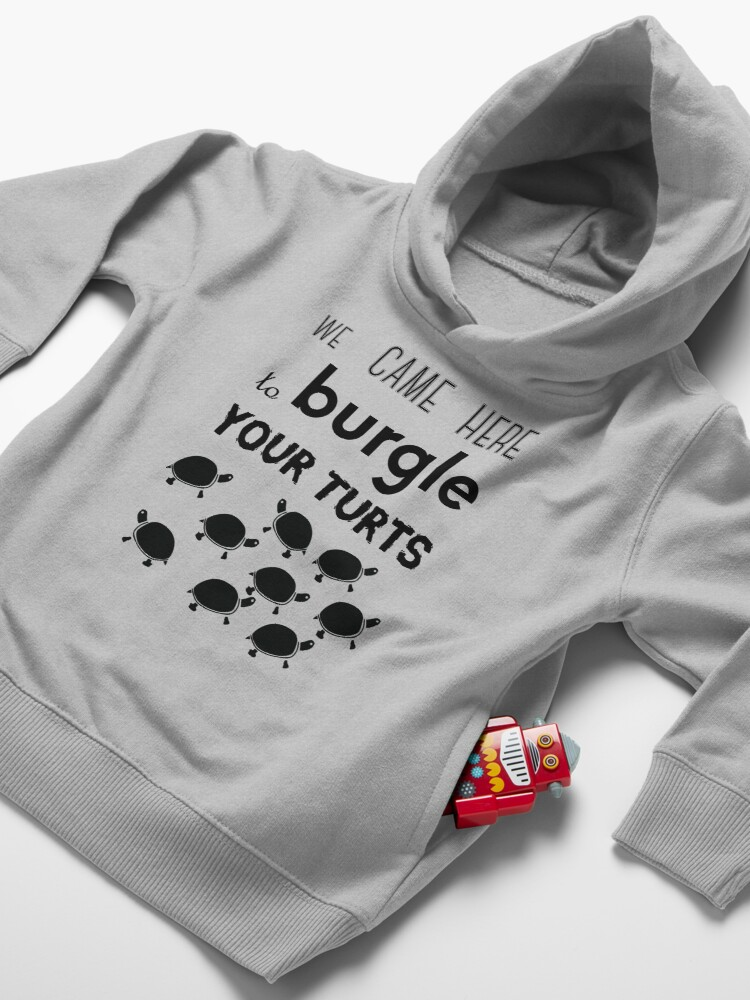 Alternate view of your turts Toddler Pullover Hoodie