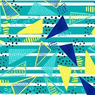 Venice Beach Triangle Pattern by melaniebiehle