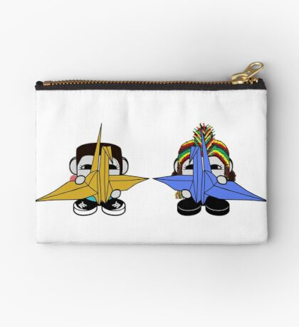 STPC: Naka Do & Oyo Yo with Origami Cranes (Never Forget) Zipper Pouch