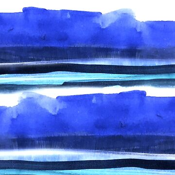 Wave Stripes Abstract Seascape by melaniebiehle