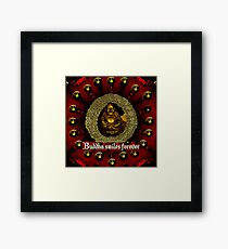 Buddha smiles today Framed Print