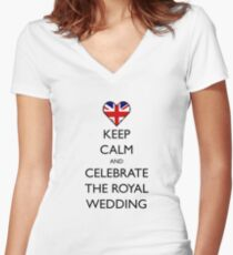 Keep Calm and Celebrate the Royal Wedding Women's Fitted V-Neck T-Shirt