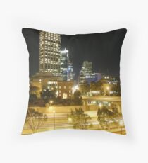 Over Looking Baracks Arch, The Mitchell Freeway & St Georges Terrace From Parliment House. West Perth. Throw Pillow