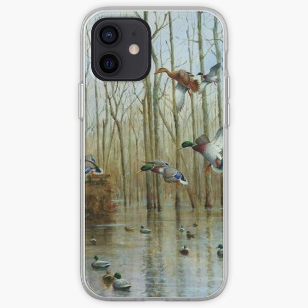 Mallards At The Timber Blind Phone Case iPhone Soft Case