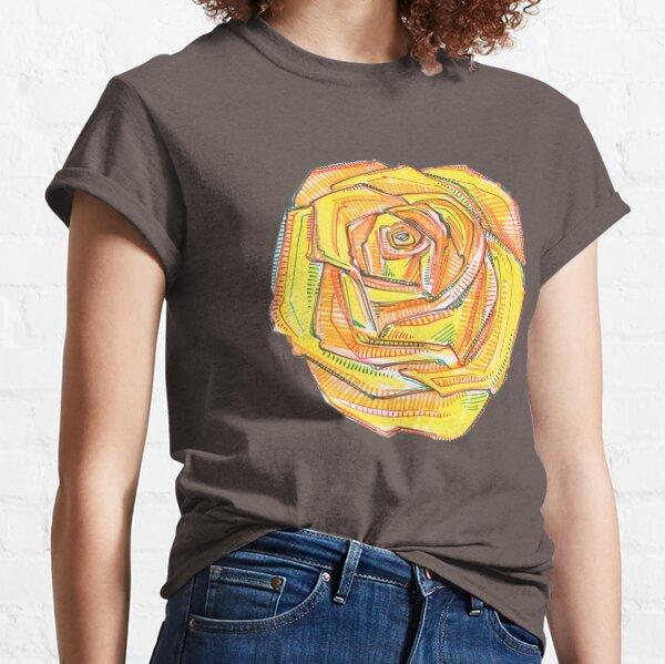 Yellow Rose Drawing - 2018 Classic T-Shirt