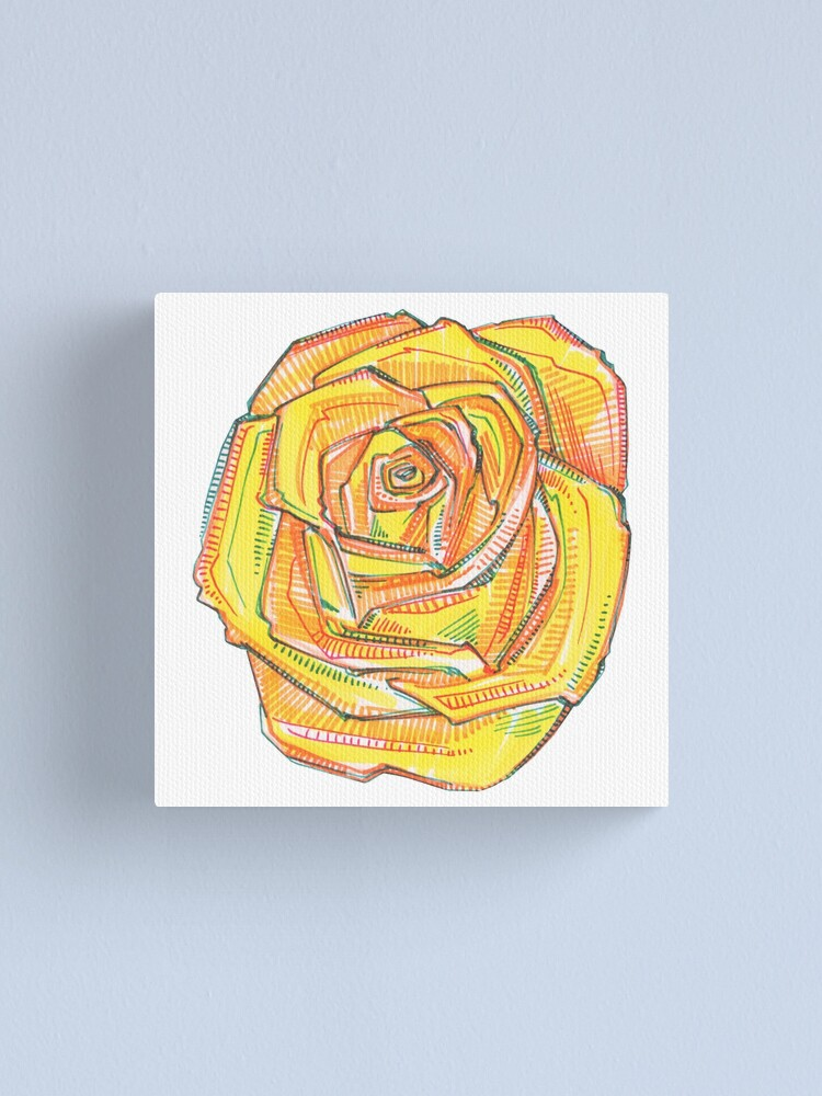 Alternate view of Yellow Rose Drawing - 2018 Canvas Print