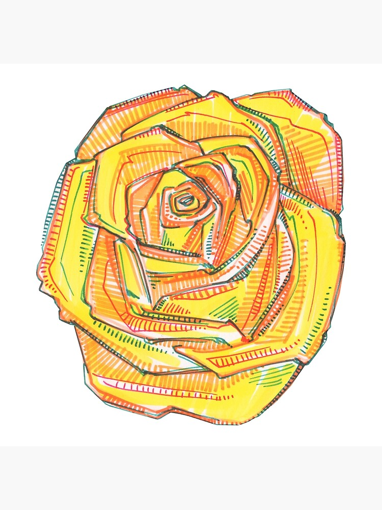Yellow Rose Drawing - 2018 by gwennpaints