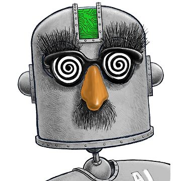 Robot human funny face world conquer today  by CaveProject