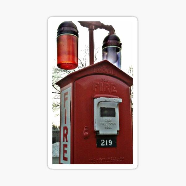 Unique Fire Alarm Pull Box found in Woodland Park, NJ, USA Sticker