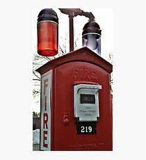 Unique Fire Alarm Pull Box found in Woodland Park, NJ, USA Photographic Print