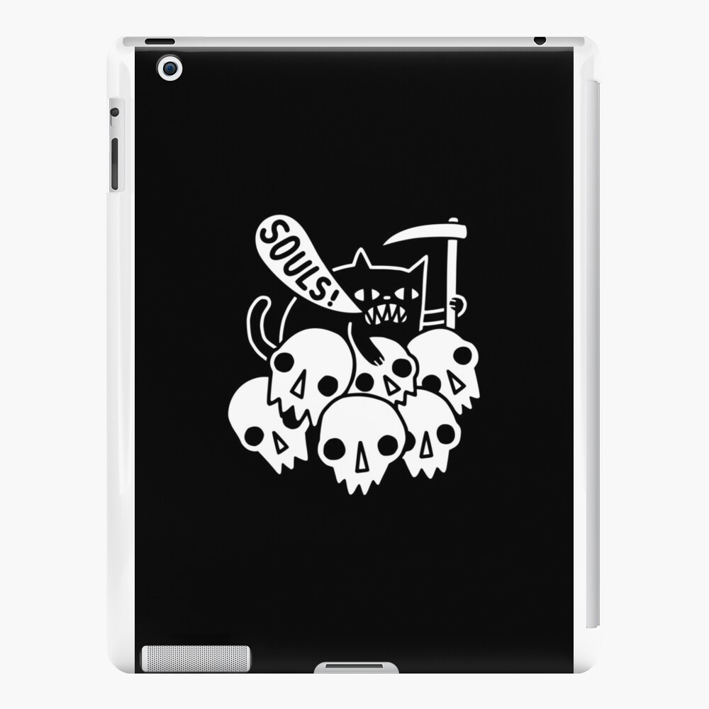 Cat Got Your Soul? iPad Cases & Skins