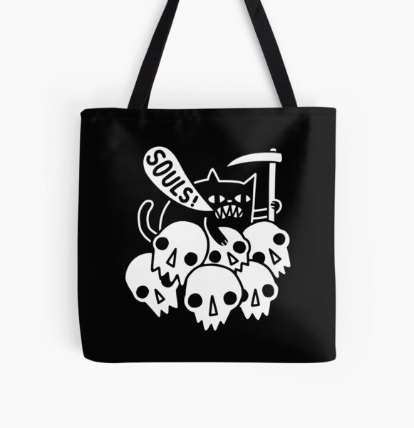 Cat Got Your Soul? All Over Print Tote Bag