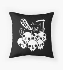 Cat Got Your Soul? Throw Pillow