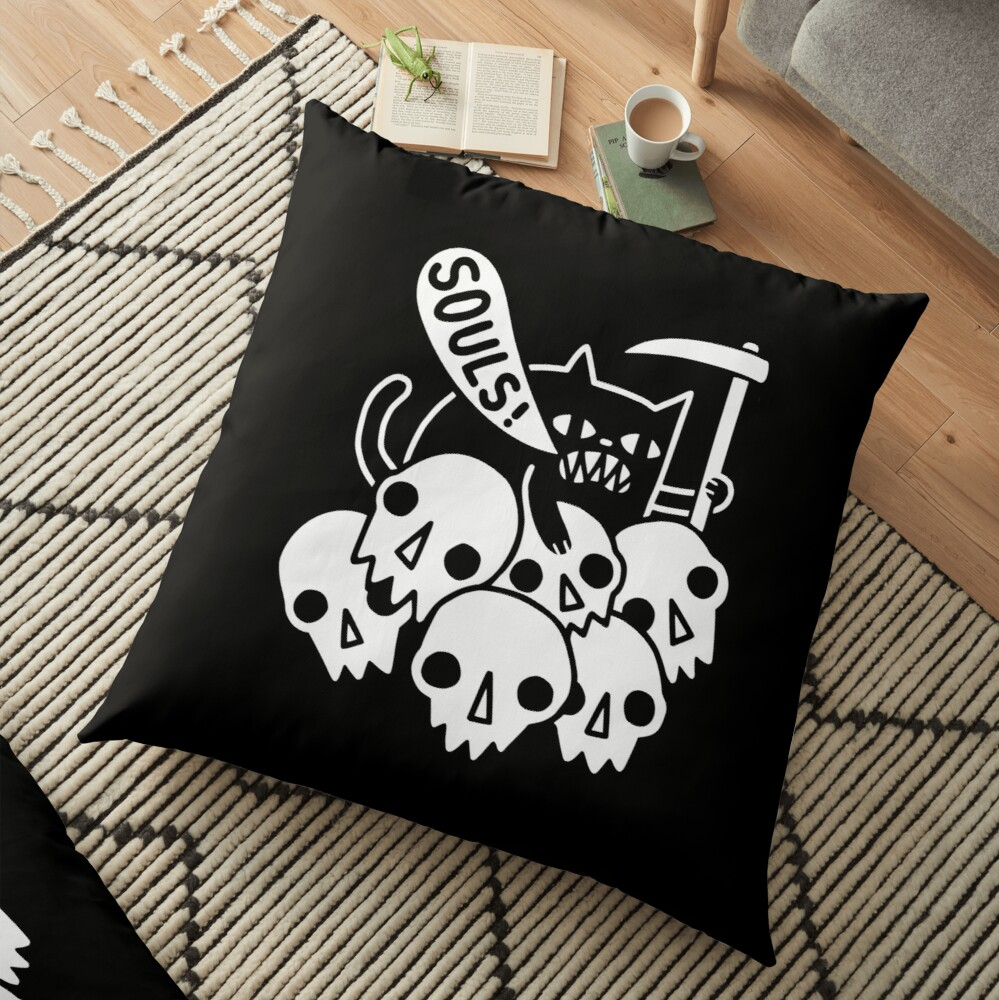 Cat Got Your Soul? Floor Pillow