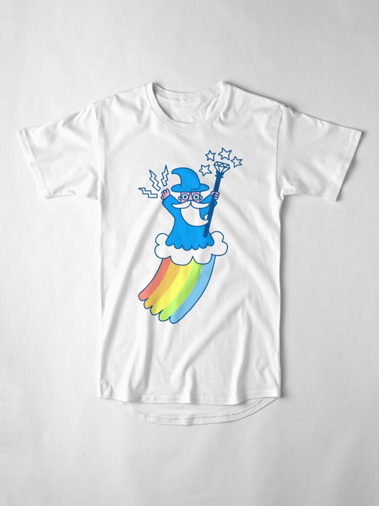 Alternate view of Rainbow Wizard Long T-Shirt