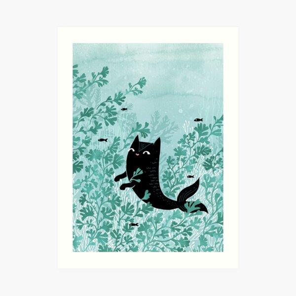 Undersea (Mint Remix) Art Print