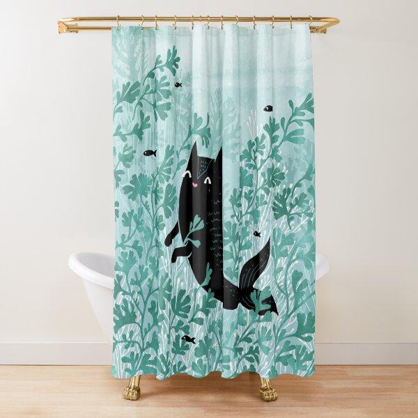 Undersea (Mint Remix) Shower Curtain