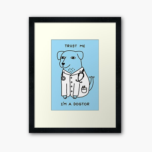 Dogtor Framed Art Print