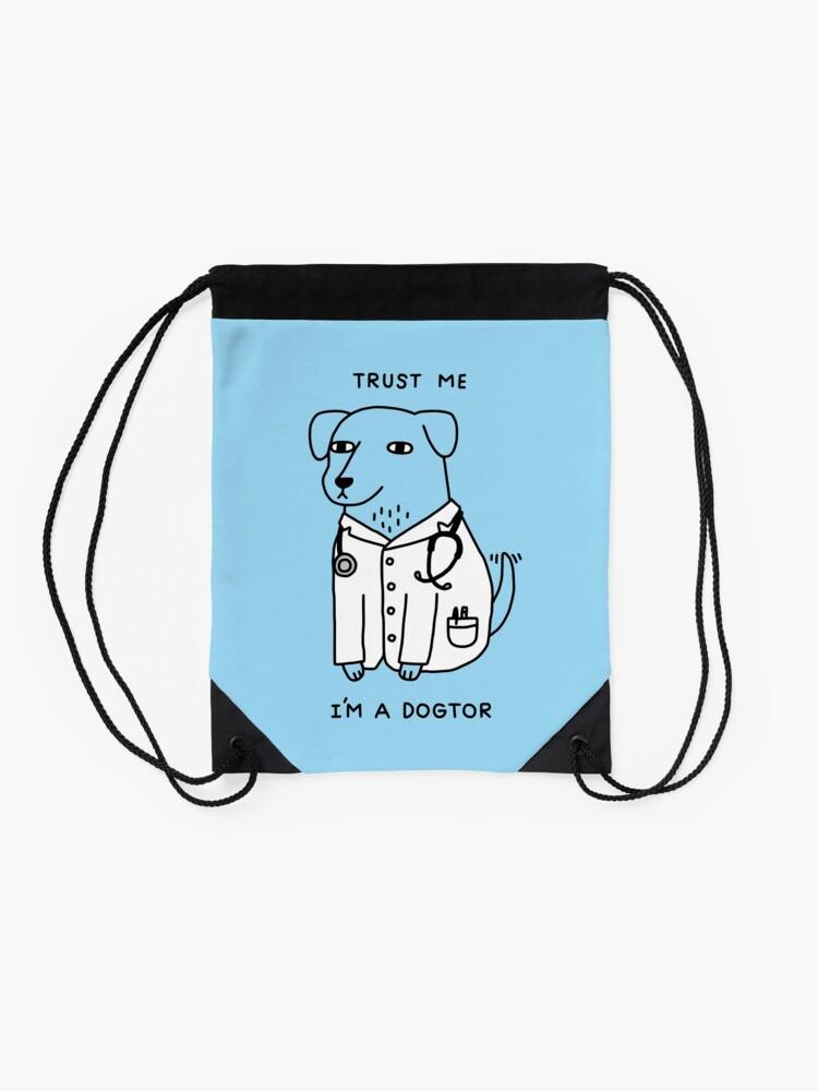 Alternate view of Dogtor Drawstring Bag