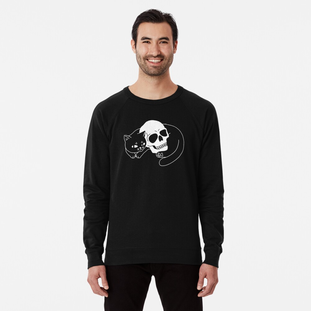 Spooky Cat Lightweight Sweatshirt