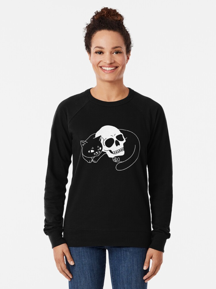 Alternate view of Spooky Cat Lightweight Sweatshirt