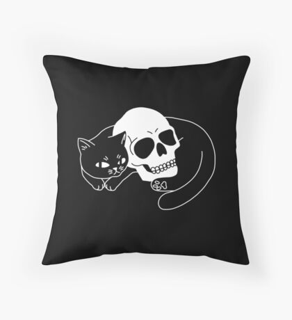 Spooky Cat Throw Pillow