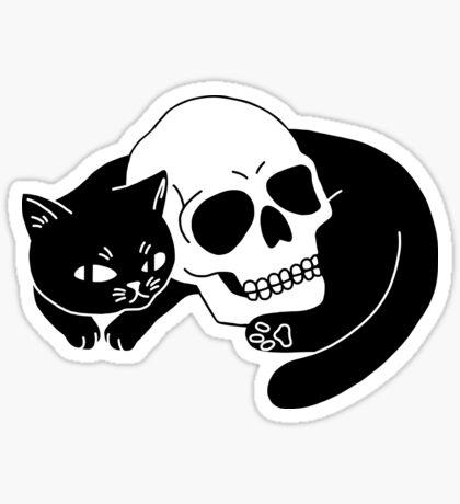 Spooky Cat Glossy Sticker