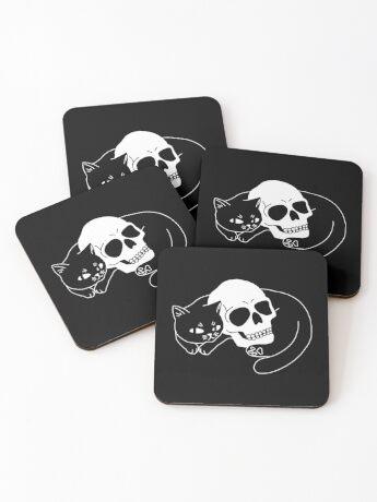 Spooky Cat Coasters