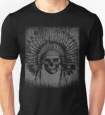 Vintage Native Skull Design T-Shirt