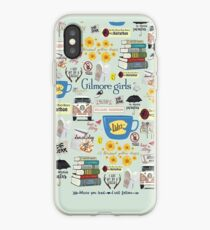 Gilmore Girls Collage, mint green iPhone Case